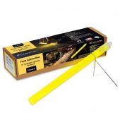Cyalume 10-inch SnapLight Flare Alternative Light Sticks with Bi-Pod Stands - Case of 40 - Unfoiled - Yellow (9-27030)