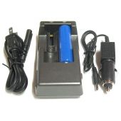 AELight Dual 18650 Battery Charger 120V AC - 12/24VDC - Includes 1 x 18650