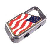 ASP Sapphire AL Keychain Light - Nichia 5mm LED - 20 Lumens - USB Rechargeable -American Flag