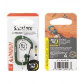 Nite Ize SlideLock Carabiner Aluminum #2 - Olive