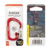Nite Ize S-Biner SlideLock Aluminum #3 - Red