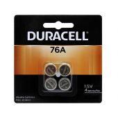 Duracell Medical LR44 Alkaline Coin Cell Batteries - 4 Piece Retail Packaging