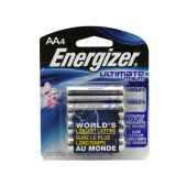 Energizer Ultimate AA Lithium Batteries - 3000mAh  - 4 Piece Retail Packaging