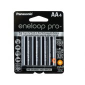 Panasonic Eneloop Pro AA 2550mAh 1.2V Low Self Discharge NiMH Rechargeable Batteries - 4 Pack Retail Card