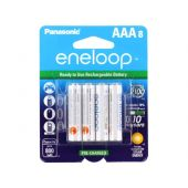 Panasonic Eneloop AAA 800mAh 1.2V Low Self Discharge NiMH Rechargeable Batteries - 8 Pack Retail Card