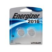 Energizer CR2016 Lithium Coin Cell Batteries - 90mAh  - 2 Piece Blister Pack