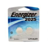 2 CR2025 Coin Batteries in Blister Packaging