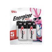 Energizer Max 9V Alkaline Batteries - 4 Pack