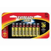 Energizer Eveready Gold A91 AA Alkaline Batteries - 16 Piece Retail Packaging