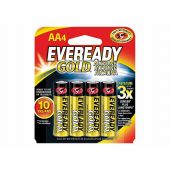 Energizer Eveready Gold A91 AA Alkaline Batteries - 4 Piece Retail Packaging