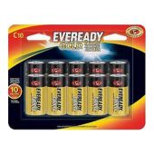 Energizer Eveready Gold C-cell - 10 Piece Retail Card