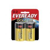 Energizer Eveready Gold A95 D Alkaline Batteries - 2 Piece Retail Packaging
