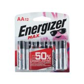 Energizer Max 12 Pack - AA 1.5V Alkaline Button Top Batteries