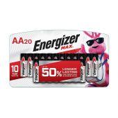 Energizer Max AA 1.5V Alkaline Batteries - 20 Pack