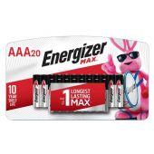 Energizer Max E92 AAA 1.5V Alkaline Batteries - 20 Pack
