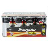 Energizer Max D Alkaline Batteries - 8 Piece Box