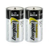 Energizer Industrial EN95 D 1.5V Alkaline Button Top Batteries - 2 Pack