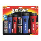 Energizer Eveready 4-Pack Economy LED Flashlights - Includes Batteries