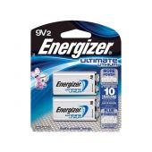Energizer Ultimate L522-BP-2 9V Lithium Primary (LiMNO2) Battery with Snap Connector - 2 Piece Retail Card