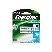Energizer Recharge AAA Ni-MH Batteries - 850mAh  - 2 Piece Retail Packaging