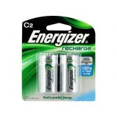 Energizer Recharge C Ni-MH Batteries - 2500mAh  - 2 Piece Blister Pack