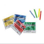 Cyalume 1.5-inch ChemLight Mini Light Sticks - Case of 50 - Individually Foiled - Light Red (9-86000PF)