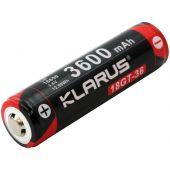 Klarus 18GT 18650 Li-Ion Button Top Battery - Angle Shot