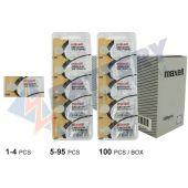 Maxell 366 Silver Oxide Coin Cell Battery - 29mAh  - 1 Piece Tear Strip