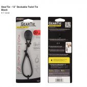 Nite Ize Gear Tie Dockable, 12-Inch, Black