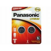 Panasonic CR2016 Coin Cell Battery - 2 Piece Standard Size Carded Packaging