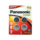Panasonic CR2016 Coin Cell Battery - 4 Piece Standard Size Carded Packaging