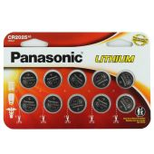 Panasonic CR2025 Coin Cell Battery - 10 Piece Wide Size Carded Packaging