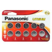 Panasonic CR2032 Coin Cell Battery - 10 Piece Wide Size Retail Card
