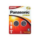 Panasonic CR2032 Coin Cell Battery - 2 Piece Standard Size Retail Card