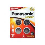 Panasonic CR2032 Coin Cell Battery - 4 Piece Standard Size Retail Card