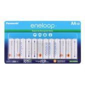 Panasonic Eneloop AA 2000mAh 1.2V Low Self Discharge NiMH Rechargeable Batteries - Retail Card of 12