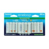 Panasonic Eneloop AA 2000mAh 1.2V Low Self Discharge NiMH Rechargeable Batteries - 16 Pack Retail Card