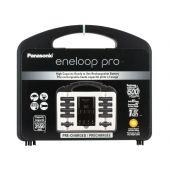 Panasonic Eneloop Pro Power Pack - 4-Channel Charger, 8 x Eneloop Pro AA, 2 x Eneloop Pro AAA Batteries