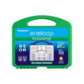Eneloop Power Pack - 8xAA, 2xAAA, 2xC size adapters, 2xD size adapters, and 4-position charger