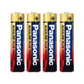 Panasonic Alkaline Plus AAA Battery - 4 Pack Shrink (LR03PA-4S)