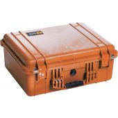 Pelican 1550 Watertight Case - With Liner and Foam Insert - Orange