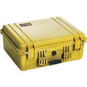 Pelican 1550 Watertight Case - With Liner with Foam Insert- Yellow