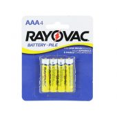 Rayovac Heavy Duty AAA Zinc Chloride Batteries - 550mAh  - 4 Piece Retail Packaging