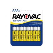 Rayovac Heavy Duty AAA Zinc Chloride Batteries - 320mAh  - 8 Piece Retail Packaging