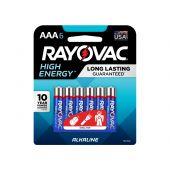 Rayovac AAA Alkaline Batteries - 6 Piece Retail Packaging