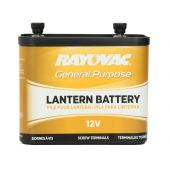 Rayovac 926C-V2 7900mAh 12V Carbon-Zinc Lantern Battery - Screw Terminals - Flexible Connection - Bulk