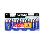 Rayovac High Energy D Batteries - 8-Pack