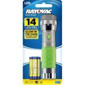 Rayovac Value Bright 3AAA LED Glow in the Dark Flashlight - 18 Lumens - Uses 3 x AAA - Includes Batteries