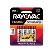 Rayovac Fusion AA Alkaline Batteries - 4 Piece Retail Packaging