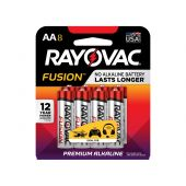 Rayovac Fusion AA Alkaline Batteries - 8 Piece Retail Packaging